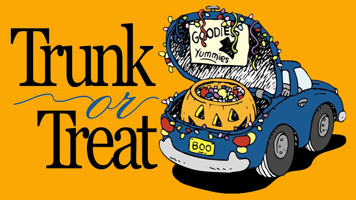 Trunk or Treat: Oct 29, 5:00 pm